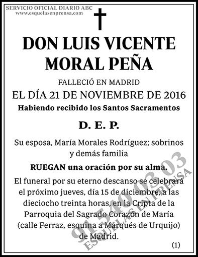 Luis Vicente Moral Peña